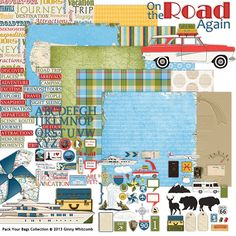 Pack Your Bags Collection, designed by Ginny Whitcomb, Scrap Girls, LLC digital scrapbooking product designer