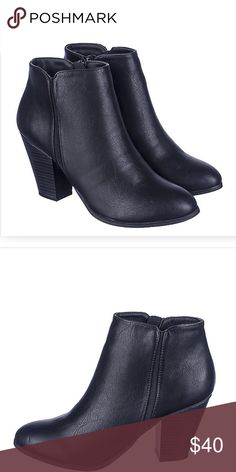 Brand new boots 👢 The Tevay-H ankle boots are perfect for the office or a nice evening out. The classic, smooth leather gives the shoe a trendy, upscale look. Pair these with your favorite light denim jeans and a black or grey sweater or blouse.   Heel height: 3 in. Opening: 9 in. Shaft: 3.5 in. Faux leather Side zipper closure Round toe Shoes Ankle Boots & Booties