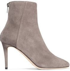 394be419b6d Jimmy Choo - Duke 85 Suede Ankle Boots - Light gray  shoes  pumps