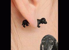 Neon Fashion 3D Puppy Single Ear Stud | LilyFair Jewelry, $11.99!