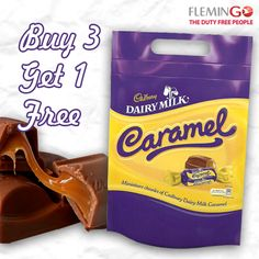 Extended happiness with #Cadbury Dairy Milk 's Caramel chunks. Buy 3 packets and get 1 FREE.