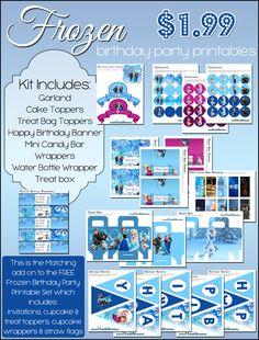Frozen Birthday Party Printable Add On Kit