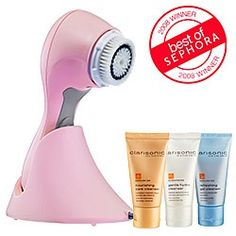 BEST facial cleansing brush. Mimics the best facial and beyond. An essential. I have been using one for years and if I skip a day it makes a huge difference! I own the pink and leopard one. So fun! #skincare #anti-aging #beauty #aging