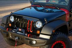 The Pitch Black and TorRed Jeep Wrangler #2014 #Rubicon