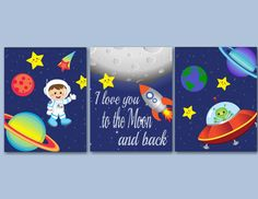 Space Kids Wall Art,Out of This World Wall Art,Astronaut Wall Art,Outerspace Wall Art,Space Room Decor,Planets Wall Artby SweetBloomsDecor