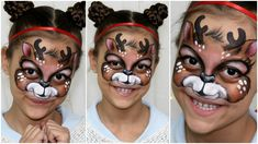 Cute Christmas reindeer face painting tutorial, perfect for winter holidays, that both boys and girls will enjoy. Make your kids happy with this Rudolph the . Face Painting Tutorials, Face Painting Designs, Body Painting, Painting Videos, Reindeer Face Paint, Spider Man Face Paint, Face Paint Makeup, Lip Makeup, Christmas Face Painting