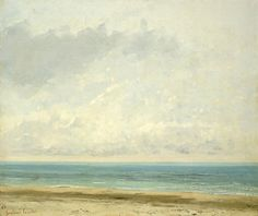 """Calm Sea"" by Gustave Courbet, French artist, 1819-1877"