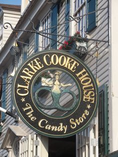 Signage - Clarke Cooke House - Newport, RI Nautical Signs, City By The Sea, New England Homes, Weekend Fun, Store Fronts, Shop Signs, Rhode Island, Places To Eat, Restaurant Bar