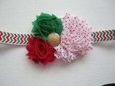Red and Green Mini 1.5 Shabby Chiffon by MelissaRevierDesigns, Christmas Holidays