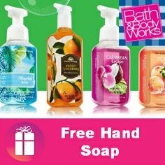 #FREE FULL-SIZE Bath & Body Works Hand Soap  GET YOUR #COUPON http://freebies4mom.com/handsoap/ and tell a friend!