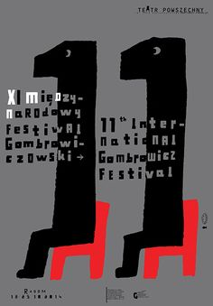International Gombrowicz Festival, Lech Majewski, 2014 - Posters on paper - BOSZart Graphic Design Posters, Graphic Design Illustration, Typography Layout, Lettering, Typo Poster, Italian Posters, Alphabet City, Polish Posters, Grafik Design