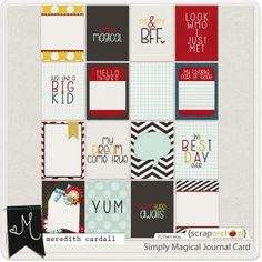 Simply Magical Journal Cards