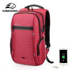"""Slim Fit Sleek Design Unisex 15-17"""" Laptop Backpack with USB Charging Port Business Notebook Travel bag"""