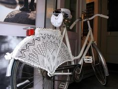 Crochet Lace Bicycle Skirt Guard-Photo c/o WingedThing