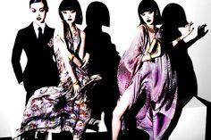 Xiao Wen Ju Tian Yi Cici Xiang Yejing by Mario Testino Members Only Vogue China March 2014