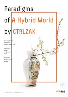 ctrlzak - Paradigms of a Hybrid World exhibition, invitation by Huangyang design