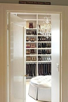Closet--hanging boots takes up way less space than keeping them in the boxes. Proper storage and maintenance increases longevity.