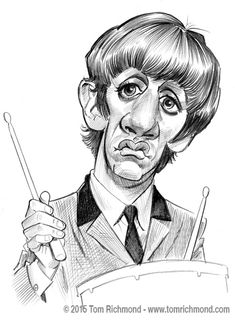 Ringo Starr ©2015 Tom Richmond