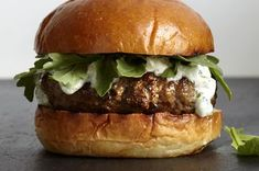 Where's the beef? Who cares? This lamb burger comes from Karen Weinberg, a chef at 3-Corner Field Farm who also sells at Union Square Greenmarket. It's dressed in a mint-garlic yogurt sauce, and is fresher and far more flavorful than most beef burgers around.