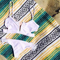 "Hello sunshine! Reversible bikini ""On the Horizon"" www.koaswim.com"