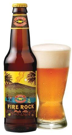 Cerveja Fire Rock Pale Ale, estilo American Pale Ale, produzida por Kona Brewing, Estados Unidos. 5.9% ABV de álcool.