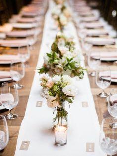 Photo: W Studios New York; Wedding reception centerpiece idea;