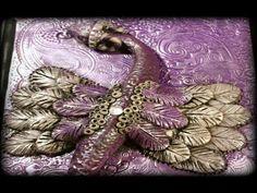 Tutorial: Polymer Clay Dragon Fantasy Art Tile/Journal Cover | Velvetorium - YouTube