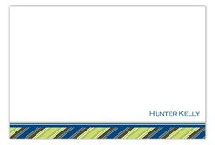 Perfect gift for Dad: Blue Behind the Wheel Flat Note Card