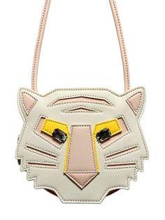 stella mccartney kids - kids-girls - bags & backpacks - tiger faux leather shoulder bag