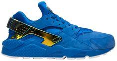 Wedge Heel Sneakers, Blue Sneakers, Wedge Heels, Air Max Sneakers, Sneakers Nike, Nike Air Huarache, Nike Running, Blue Suede