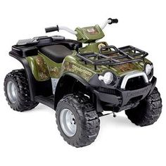 Experience ultimate terrain traction with the Fisher-Price Power Wheels Kawasaki Brute Force Camouflage! Kids get the thrill of realistic ATV riding while Kids Atv, Toy Cars For Kids, Kids Toys, Children's Toys, 5 Kids, Kids 4 Wheelers, Kids Power Wheels, Wheel Logo, Atv Riding
