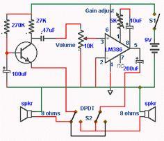 Doorphone Intercom Circuit schematic