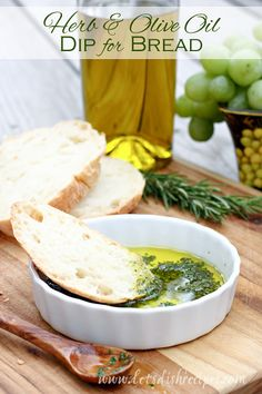 - Herb and Olive Oil Dip for Bread | Fresh herb and olive oil for dipping bread. Just like in Italian restaurants! #MyTuscanTable @Bertolli [ad]