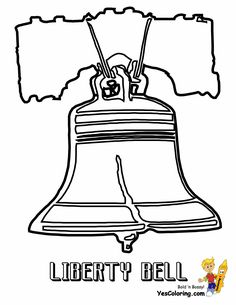 coloring liberty bell picture at yescoloring