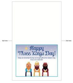 Three Kings Day printable card (in English) to leave a note from the reyes magos for Día de los Reyes via @pattiecordova