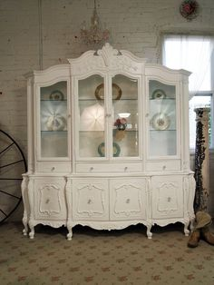 The Painted Cottage China Cabinet Painted Cottage, China Cabinet, Cabin Decor, Furniture Makeover, Painted Furniture, Shabby Chic Homes, Large China Cabinet, Vintage Furniture, Beautiful Furniture
