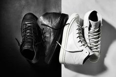 20ad31122db69 The inspiration is obvious – the iconic leather motorcycle jacket was the  starting point for this new premium mid-top version of the ...