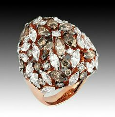 LAL PİRLANTA Fancy diamond ring