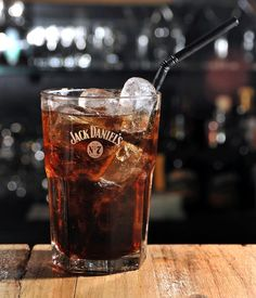 Jack and Coke |  Ingredients: 1 part Jack Daniel's Old No. 7, 3 parts Coke.  Instructions: Serve over ice in a tall glass. (I sometimes add a splash of Rose's sweet lime juice for a twist.)