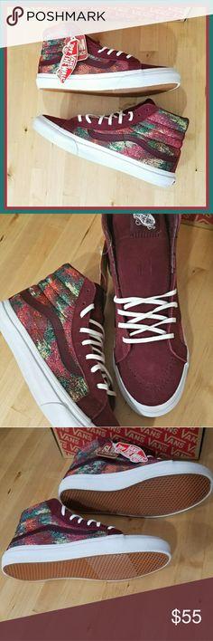 Port Roya Italian Weave Sk8-Hi Suede and Italian Weave Sk8-Hi Slim. Brand new with box. Men's 7.5 Women's 9 True to size. Vans Shoes Sneakers