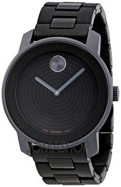 89df33db3a3 Movado Bold Concentric Black Dial Black Aluminum Men s Watch 3600073