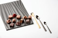 Starting the day with sweet chocolate and this stylish photo of our MoonLashes silverware pieces! Have a great Sunday!  See more via www.verapu.re. Photo by Faruk Pinjo. Have A Great Sunday, Eat Dessert First, Fine Dining, Pure Products, Collections, Chocolate, Crystals, Stylish, Sweet