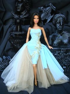 Miss Vietnam Barbie, Mattel. Barbie Mode, Barbie I, Black Barbie, Barbie World, Barbie And Ken, Barbie Gowns, Barbie Dress, Barbie Clothes, Barbie Style