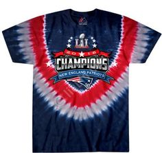 d90211b60 NFL New England Patriots Super Bowl 51 Champions Liquid Blue Mens Shield  Tie-Die T-Shirt