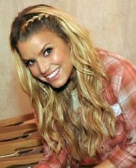 Jessica Simpson. I've done this braid in my hair before and its so cute you can wear it with anything! Dressy or casual.
