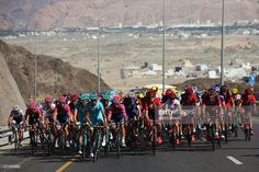 The Astana Pro Team set the pace up the climb of Bousher Al Amerat on stage five of the 2016 Tour of Oman, a 119.5km road stage from Yiti (Al Sifah) to the Ministry of Tourism, on February 20, 2016 in Muscat, Oman. ‪#‎TOO2016‬ #rm_112