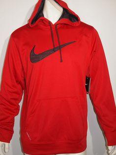 NIKE ko camo printed swoosh men's fleece hoodie size large NEW on SALE #Nike #Hoodie