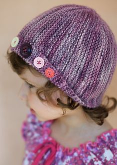 Damsel sideways knit cloche Hat pattern