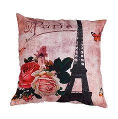 Scandinavian Cocoinn Flowers Transmission tower Linen Pillow Case -- Find out…