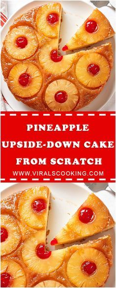 How To Make Easy Pineapple Upside-Down Cake from Scratch - Sweet cakes - Cake Recipes Cake Recipes From Scratch, Easy Cake Recipes, Baking Recipes, Yummy Recipes, Drink Recipes, Recipies, Köstliche Desserts, Delicious Desserts, Yummy Food
